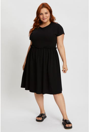 Plus Short Sleeve Skater Dress