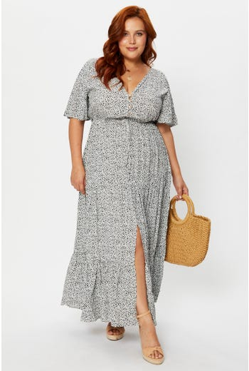 Plus Ruched Maxi Dress
