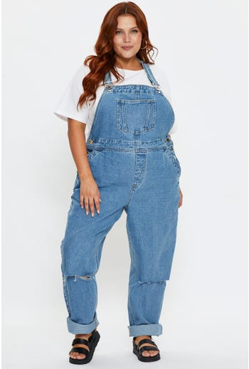Plus Denim Overall