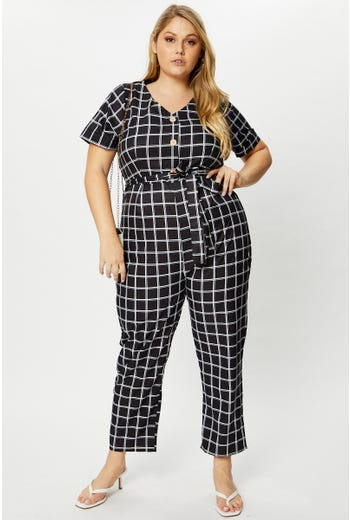 Plus Stripe Jumpsuit