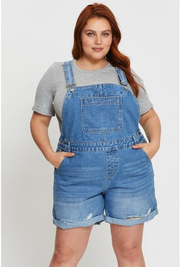Plus Overall Shorts