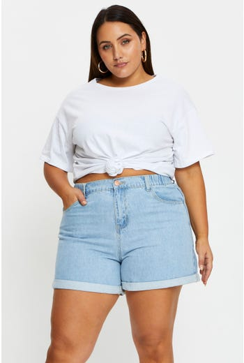 Plus Relaxed Shorts