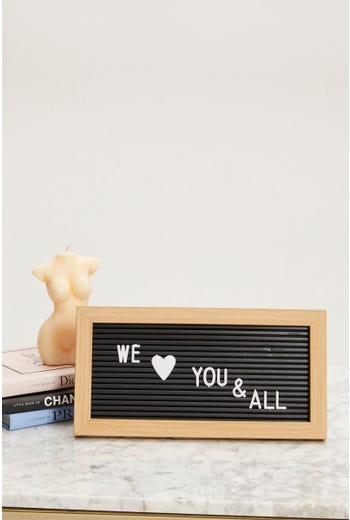 Plus DIY Letter Board With 124 Letters and Symbols