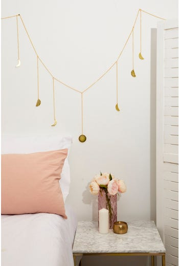 Plus Dangling Moon Charms Wall Hanger