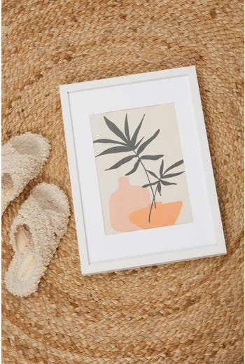 Vase And Plant 30cm by 40cm Poster Print