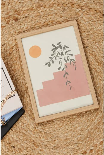 Stairs And Plant 30cm by 40cm Poster Print