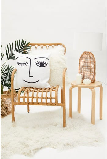Face Line Drawing Cushion Cover