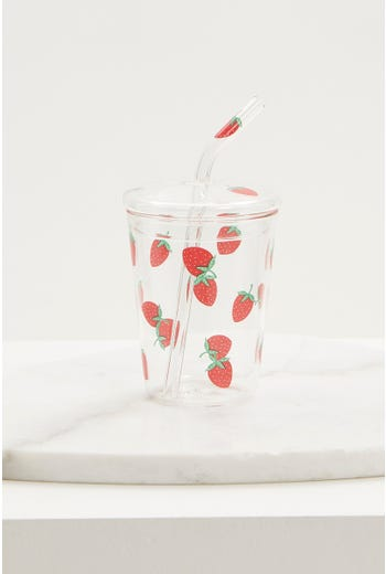 Strawberry Reusable Drinks Cup