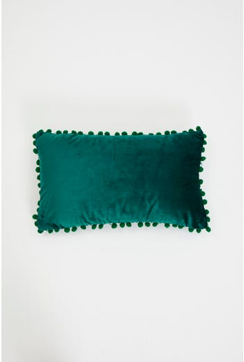 Pom Pom Trim Cushion