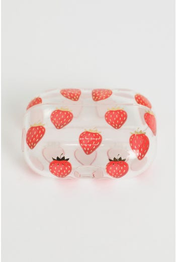 Cute Strawberry Print Air-Pod Case