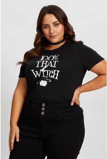 Plus 100% That Witch Halloween T Shirt