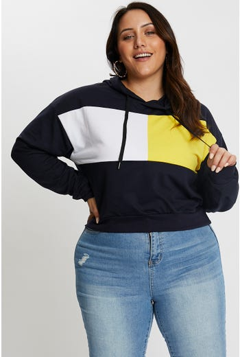 Plus Colour Block Sweater
