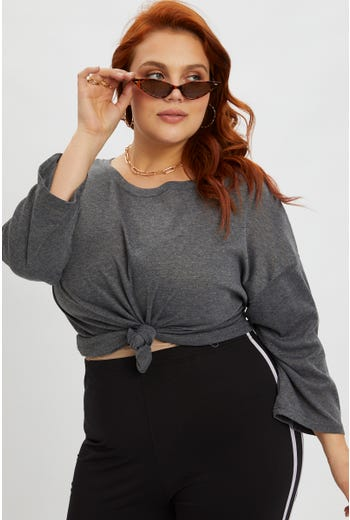 Plus Bell Sleeve T Shirt