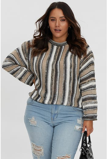 PLUS TILLY STRIPE KNIT