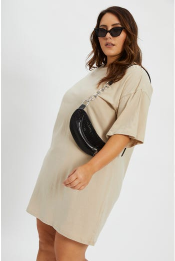 Plus Time To Be Alive Oversized T Shirt Dress