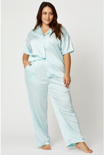 Plus Satin Pyjama Set