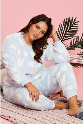 Plus Cloud Fleece Pyjama Top