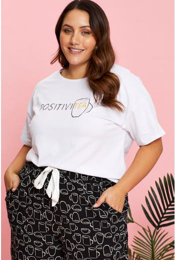 Plus Positivitea Pyjama Top