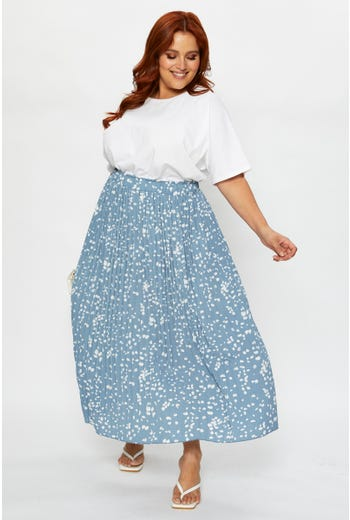 Plus Pleat Midi Skirt