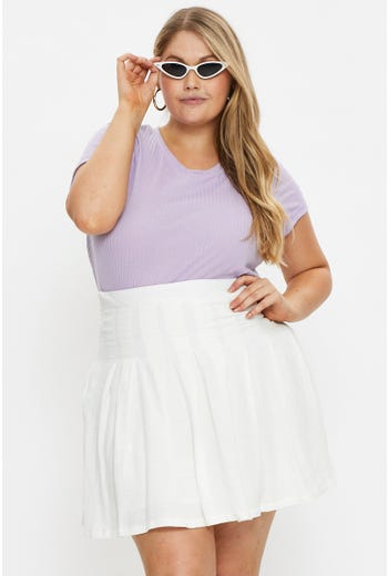 Plus Pleated Tennis Skater Skirt