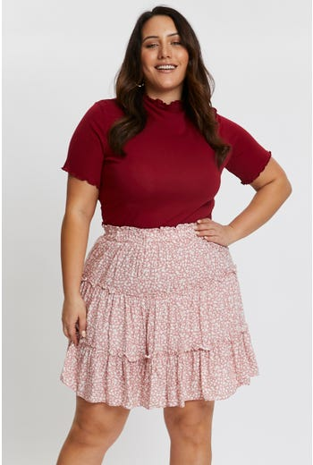 DITSY FLORAL FRILL SKIRT