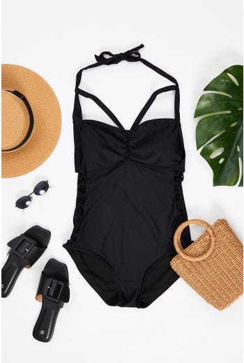 Plus Cut Out One Piece Swimwear