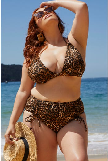 Plus Animal Print Two Piece Bikini