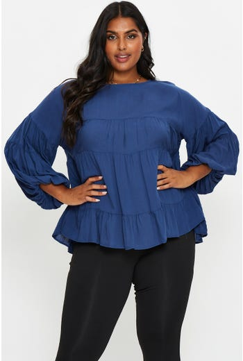 Plus Tiered Layer Top
