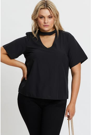 Plus Keyhole Top