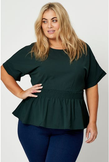 Plus Peplum Top