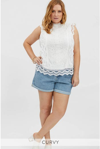 PLUS CROCHET TOP