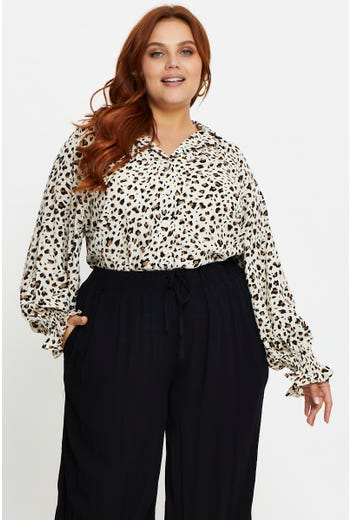 Plus Leopard Print Shirt
