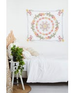 Boho Floral Wall Hanging Tapestry