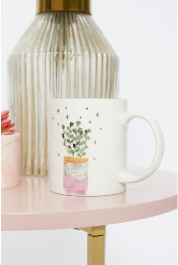 Cute Potted Plant Mug