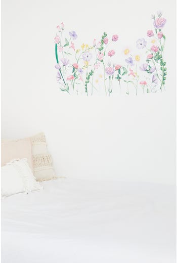 Wild Flowers Print Wall Sticker